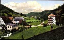 Postcard Unterachtel Simmelsdorf, Blick auf den Ort gegen Oberachteler Tal