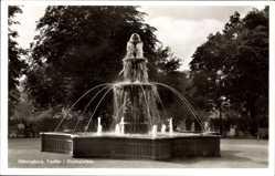 Postcard Helsingborg Schweden, Fontän i Stadsparken, Fontäne