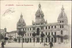 Postcard A Coruña Galicien, Palacio del Ayuntamiento, Rathaus