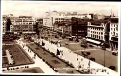 Postcard Manchester North West England, Piccadilly, Market Street