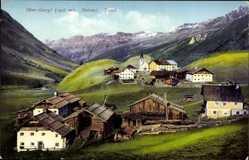 Ak Obergurgl Oetztal Tirol, Totalansicht, Kirche, Purger Photochromie, 11730