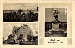 Postcard Siebenlehn Großschirma im Kreis Mittelsachsen, Denkmal, Wohnhaus