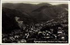 Postcard Oppenau Renchtal Schwarzwald, Stadtpanorama, Berge, Wald