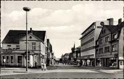 Postcard Ennigloh Bünde Westfalen, Blick in die Bahnhofstraße, Cafe Domhoff