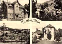 Postcard Dietlas Krayenberggemeinde Rhön, Stadtansichten, Gebäude, Efeu