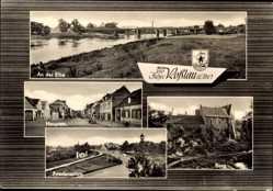 Postcard Dessau Roßlau in Sachsen Anhalt, 750 Jahre, Stadtansichten, Friedensplatz