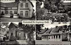 Postcard Kattendorf Kreis Segeberg, Steenbrucks Gasthaus, Garten, Fassade