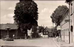 Postcard Wilthen im Kreis Bautzen Sachsen, Blick in die Bahnhofstraße, Postamt