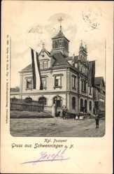 Postcard Villingen Schwenningen im Schwarzwald, Blick auf das königliche Postamt