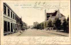 Postcard Sterkrade Oberhausen am Rhein, Steinbrink mit Rathaus, Straßenpartie