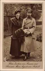 Ak Prinz Joachim von Preußen, Prinzessin Marie Auguste von Anhalt