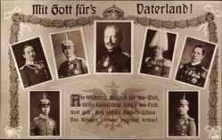 Ak Kaiser Wilhelm II. von Preußen, Kaiserliche Söhne, NPG 4862