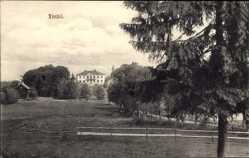 Postcard Lindö Schweden, Sörmländska Slott och Herresäten, Blick auf Schloss