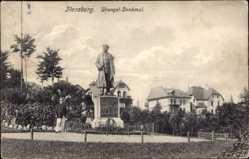 Postcard Flensburg in Schleswig Holstein, Ansicht vom Wrangel Denkmal
