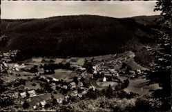 Postcard Enzklösterle im Enztal Baden Württemberg, Gesamtansicht, Talblick