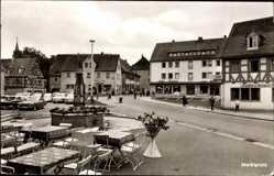 Postcard Heilsbronn im Kreis Ansbach Mittelfranken, Cafe am Marktplatz