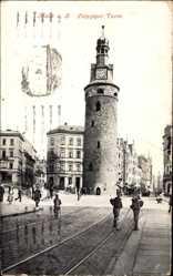 Postcard Halle an der Saale, Ansicht vom Leipziger Turm