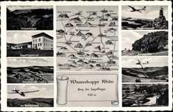 Postcard Gersfeld in der Rhön in Hessen, Fuldatal, Fliegerdenkmal, Schulbetrieb