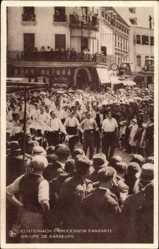 Postcard Echternach Luxemburg, Procession Dansante, Groupe de Danseurs