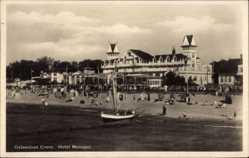 Ak Selenogradsk Cranz Ostpreußen, Hotel Monopol, Strand, Boot