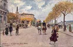 Künstler Ak Stein, George, Genève Genf Stadt, Le Quai du Mont Blanc