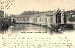 Postcard Genève Genf Stadt, Bâtiment des Forces Motrices