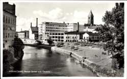 Postcard Norrköping Schweden, Motala Ström och Centric, Teilansicht des Ortes