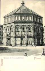 Ak Firenze Florenz Toscana, Chiesa di San Giovanni o Battistero, Kirche