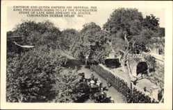 Postcard Delhi Indien, Emporer Queen Empress, Imperial, King Edward Statue, Coronation