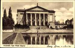 Ak Poznań Posen, Teatr Wielki, Opera, Blick auf das Theater, Oper