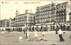 Postcard Knokke Heist Westflandern, La digue, Grand Hotel Royal