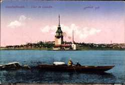 Postcard Konstantinopel Istanbul Türkei, Tour de Léandre, bâteau