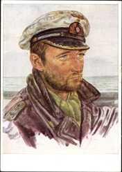 Künstler Ak Willrich, Wolfgang, Kapitänleutnant Frauenheim, U Boot Kommandant