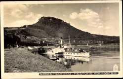 Ak Festung Königstein, Salondampfer Bodenbach, Hahn 4014