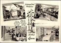 Postcard Levern Stemwede in Ostwestfalen Lippe, Kurheim Meyer Pilz, Terrasse