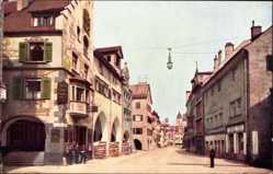Postcard Lindau im Bodensee Schwaben, Blick in die Maximilianstraße, Gaslampe