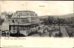 Postcard Bad Salzuflen im Kreis Lippe, Partie im Kurpark mit Blick auf das Kurhaus