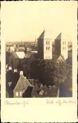 Foto Ak Münster in Westfalen, Blick auf den Dom und den Ort, Dächer