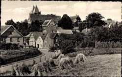Postcard Obernkirchen im Kreis Schaumburg, Blick auf das Stift, Heuberge