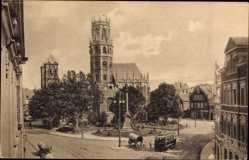 Postcard Münster in Westfalen, Ansicht der Ludgerikirche, romanischer Stil