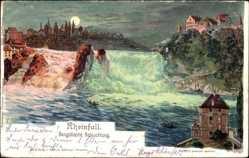 Künstler Litho Steinmann, C.,Neuhausen am Rheinfall Kt. Schaffhausen,Beleuchtung