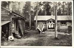 Postcard Leksand Schweden, Etnografiska Muséet, Trachten