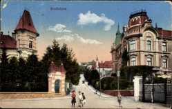 Postcard Poszony Pressburg Bratislava Slowakei, Straßenpartie, Kinder, Häuser