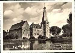 Postcard Raesfeld, Gaststätte Schloß Raesfeld, Schwanenteich