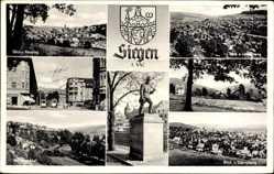 Postcard Siegen in Nordrhein Westfalen, Bergmann, Weißbachtal, Lindenberg, Häusling