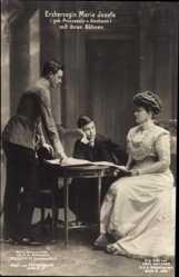 Ak Erzherzogin Maria Josefa, Mutter von Kaiser Karl I. von Österreich