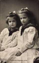 Ak Prinzessinnen Margarethe und Alix von Sachsen, Hahn