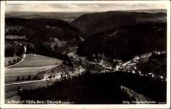 Postcard Hölle Bad Steben Bayrische Ostmark, Fliegeraufnahme, Luftkurort