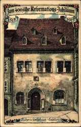 Künstler Litho Kallista, Lutherstadt Wittenberg,Luthers Sterbehaus,Ref. Jubiläum