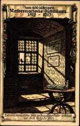 Künstler Litho Kallista, 400 jähr. Reformationsjubiläum 1917, Luthers Zelle